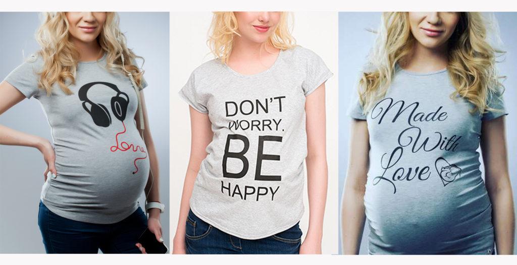 футболка для беременной