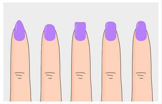 Примеры формы ногтей